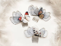 Hair Comb Accessory with Bright Butterfly Wings in Boho Chic style perfect gift for anyone who loves Butterflies