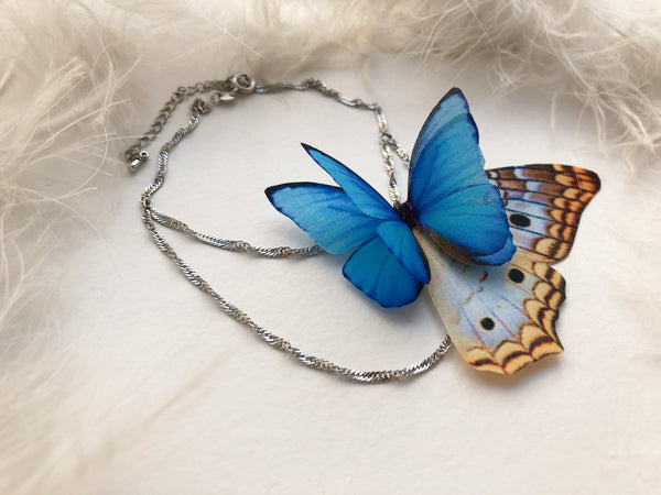 Sapphire Butterfly Anklet