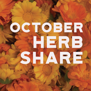Fresh Medicinal Herb Share - October