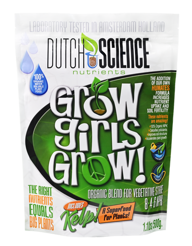 Grow Girls Grow 100% Organic Nutrient Formula for Vegetative Stage Plants