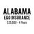 Alabama E&O Insurance ($25,000, 4 years)