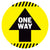 Caution Lines One Way Arrow Floor Decal