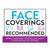 Face Coverings Recommended Decal
