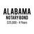 Alabama Notary Bond ($25,000, 4 years)