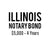 Illinois Notary Bond ($5,000, 4 years)
