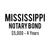 State Mississippi Notary Bond ($5,000, 4 years)