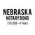 Nebraska Notary Bond ($15,000, 4 years)