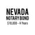 Nevada Notary Bond ($10,000, 4 years)