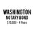 Washington Notary Bond ($10,000, 4 years)