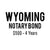 Wyoming Notary Bond ($500, 4 years)