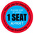 Please Stay 1 Seat Apart Chair Decal