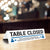 Table Closed Help Us Maintain Social Distancing Tabletop Sign