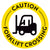 Yellow Caution Forklift Crossing Floor Decal