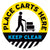 Place Carts Here Keep Clear Floor Decal