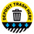 Yellow Deposit Trash Here Floor Decal
