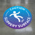 Blue Caution Slippery Surface Floor Decal