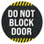 Do Not Block Door Floor Decal