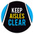 Keep Aisles Clear Floor Decal