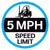 5 MPH Speed Limit Floor Decal