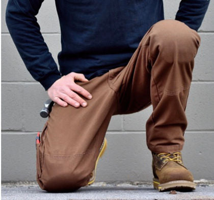 "Kneegard ""MAX"" Work Pants (FREE KNEE PADS, EASY RETURN) Timber Brown"