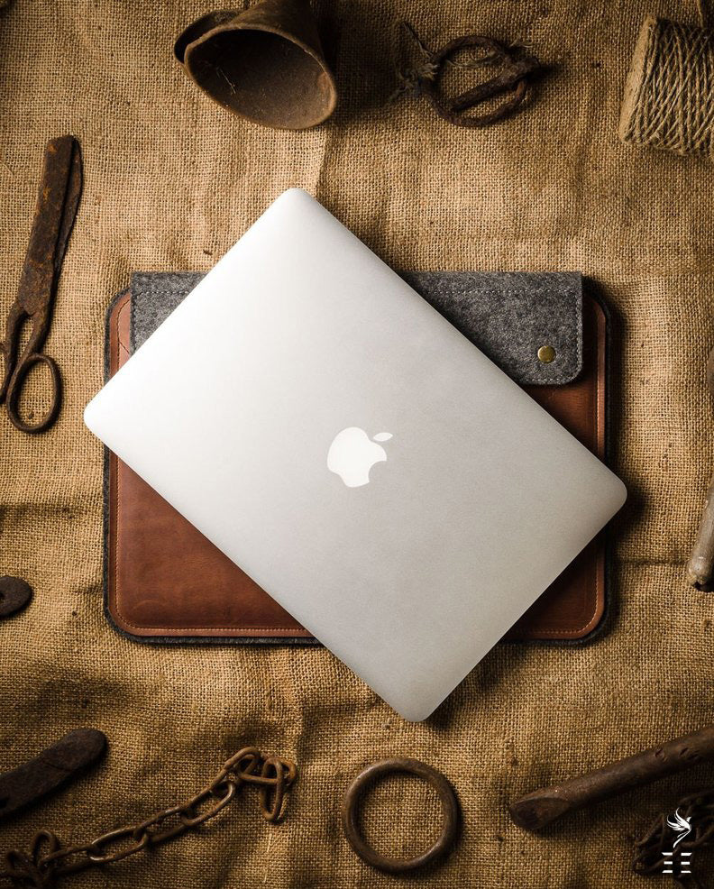 Housse MacBook Pro/Air | Marron Classique