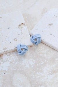 Matte Knot Stud Earrings