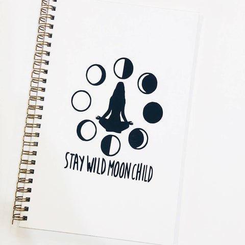 """Stay Wild Moon Child"" Handmade Notebook"