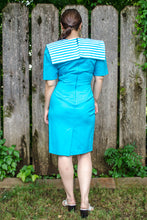 Load image into Gallery viewer, Vintage 70s Teal Wiggle Dress / XS-S