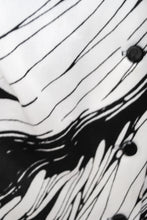 Load image into Gallery viewer, Vintage 70s Black and White Abstract Dress / M