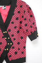 Load image into Gallery viewer, Vintage 80s Pink Dot Jacket by Bellino /  M