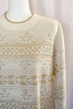 Load image into Gallery viewer, Vintage 80s Cream and Gold Lurex Sweater / S-L