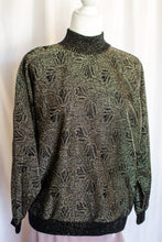Load image into Gallery viewer, Vintage 80s Black and Gold Lurex Sweater / S-M