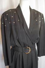 Load image into Gallery viewer, 80s Black Pearl Jumpsuit / S-M