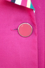 Load image into Gallery viewer, Vintage 60s Magenta Blazer Dress / L