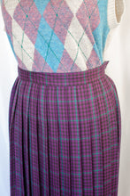 Load image into Gallery viewer, 80s Purple Plaid Skirt / XS-S
