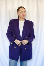 Load image into Gallery viewer, 90s Purple Blazer / S-M