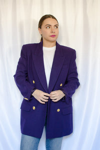 90s Purple Blazer / S-M