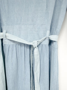 Vintage Denim Embroidered Dress / M