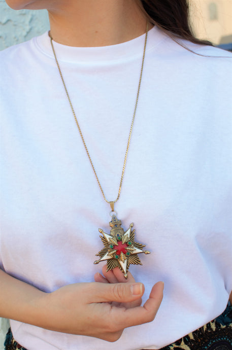 Vintage 1970s Star & Tower Necklace