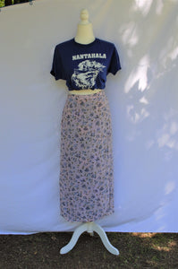 Vintage 90s Floral Reversible Wrap Skirt / S