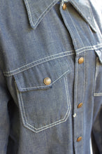 Load image into Gallery viewer, Vintage 70s Denim Work Shirt / S-L