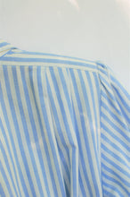 Load image into Gallery viewer, Vintage 80s Blue Striped Shirtdress / S-M