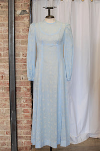 Vintage Handmade Blue Prairie Dress/ Small - Medium