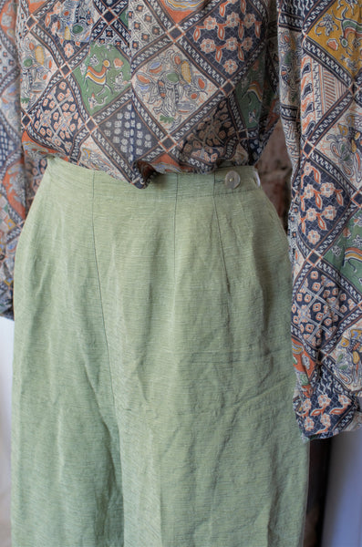 1990s Sage Green Easy Pants / Large