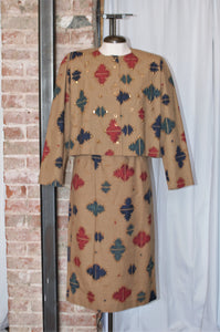 Vintage Southwestern Jacket & Skirt Set / Small - Medium