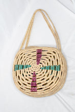 Load image into Gallery viewer, Vintage Woven Circle Basket Bag