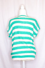 Load image into Gallery viewer, Vintage 80s Teal Short Sleeve Sweater / S-M