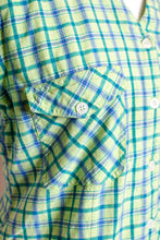 Load image into Gallery viewer, Vintage 80s Green Plaid Shirt / XS-S