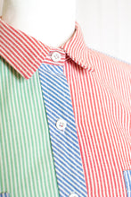 Load image into Gallery viewer, Vintage Multicolor Seersucker Stripe Shirt / S-L
