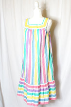 Load image into Gallery viewer, Vintage 70s Striped Tent Dress / S-L